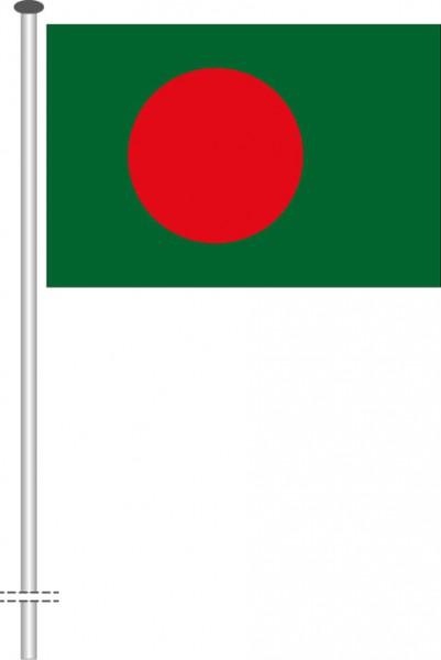 Bangladesch als Querformatfahne