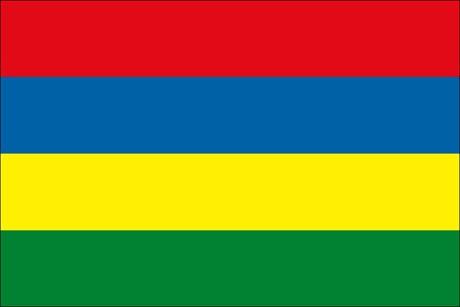 Mauritius als Fanfahne
