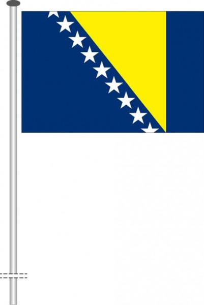 Bosnien Herzegowina als Querformatfahne