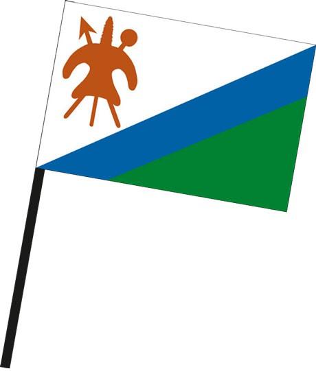 Lesotho als Stockfahne