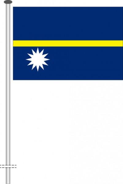 Nauru als Querformatfahne