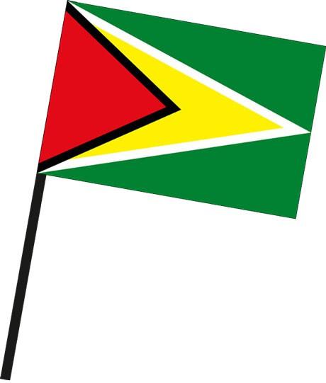 Guyana als Stockfahne