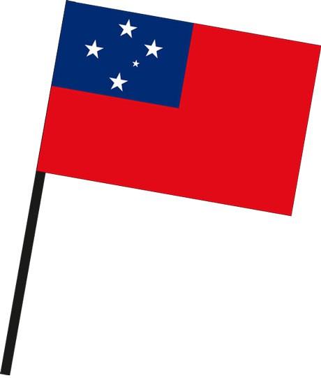 Samoa als Stockfahne