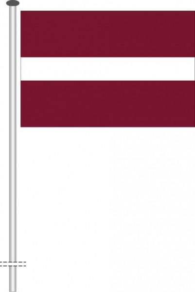 Lettland als Querformatfahne