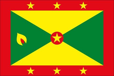 Grenada als Fanfahne