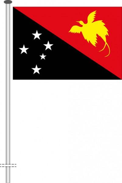 Papua-Neuguinea als Querformatfahne