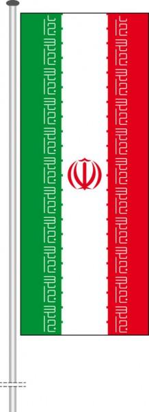 Iran als Hochformatfahne