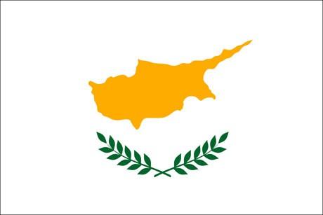 Zypern als Fanfahne