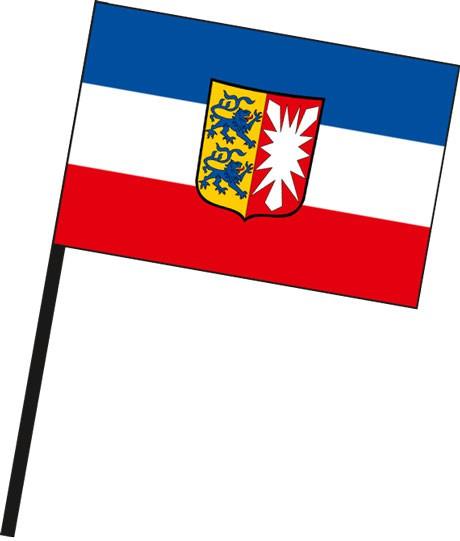 Schleswig-Holstein - Dienstflagge als Stockfahne