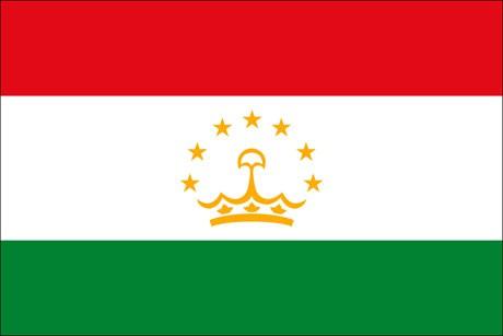 Tadschikistan als Fanfahne