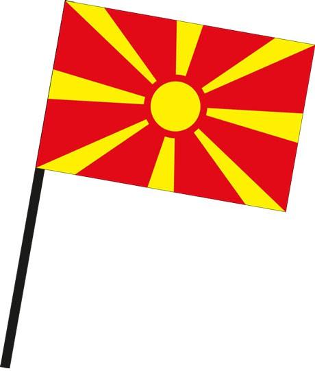Mazedonien als Stockfahne
