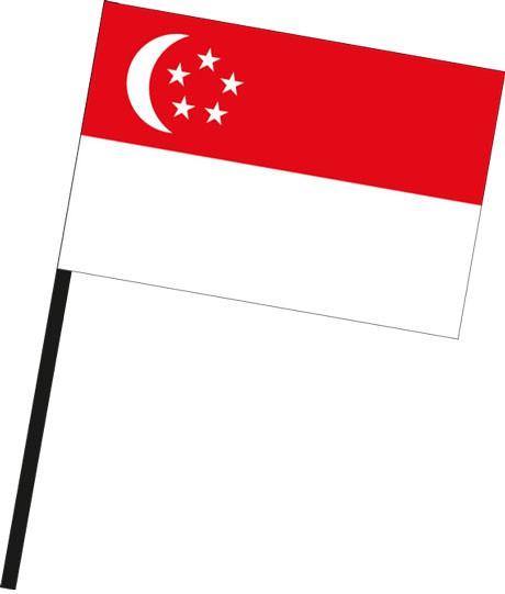 Singapur als Stockfahne
