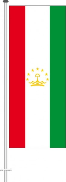 Tadschikistan als Hochformatfahne