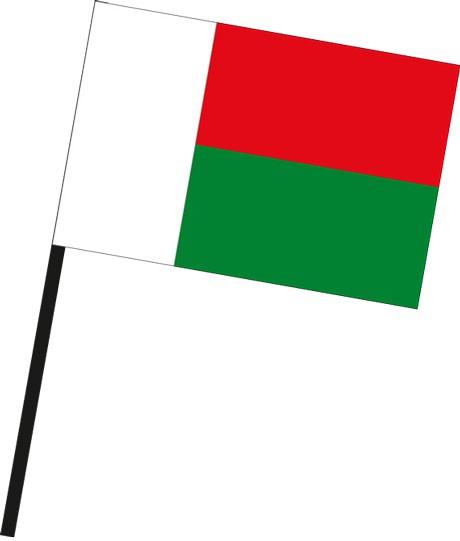 Madagaskar als Stockfahne