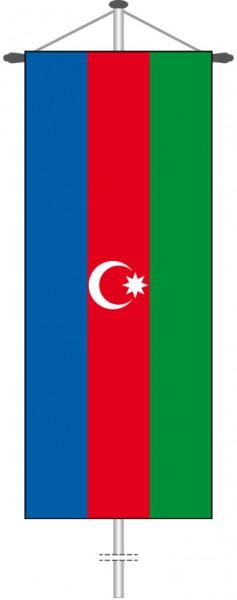 Aserbaidschan als Bannerfahne