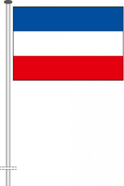 Schleswig-Holstein - Streifenflagge als Querformatfahne