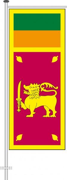 Sri Lanka als Auslegerfahne