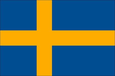 Schweden als Fanfahne