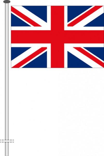 Großbritannien als Querformatfahne