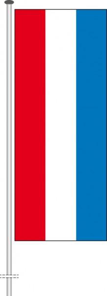 Luxemburg als Hochformatfahne