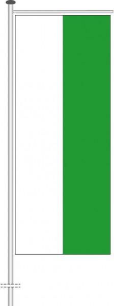 Sachsen - Streifenflagge als Auslegerfahne