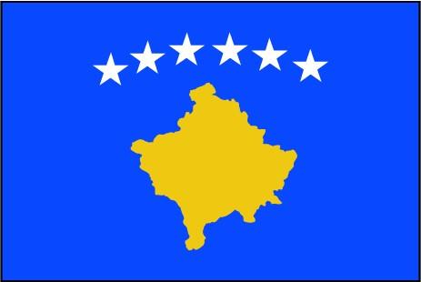 Kosovo als Fanfahne