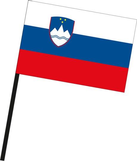 Slowenien als Stockfahne