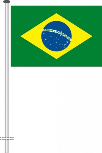 Brasilien als Querformatfahne