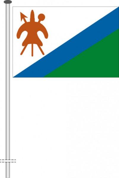 Lesotho als Querformatfahne