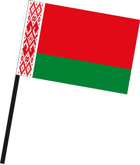 Weissrussland Belarus als Stockfahne