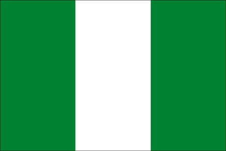 Nigeria als Fanfahne