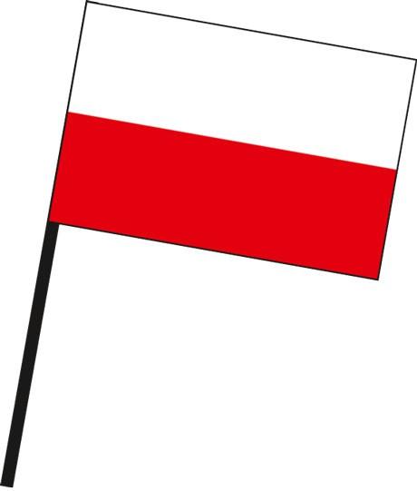 Thüringen - Streifenflagge als Stockfahne
