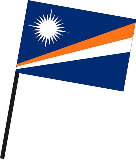 Marshallinseln als Stockfahne