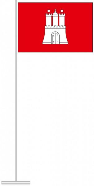 Hamburg - Bürgerflagge als Tischfahne