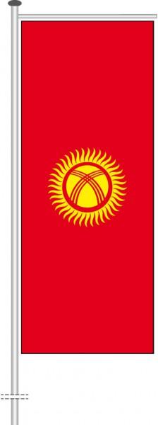 Kirgisistan als Auslegerfahne