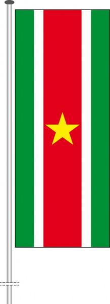 Suriname als Hochformatfahne