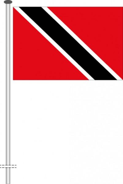 Trinidad und Tobago als Querformatfahne
