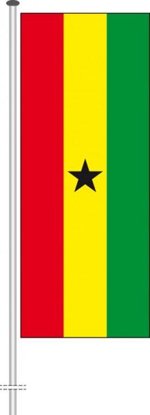 Ghana als Hochformatfahne