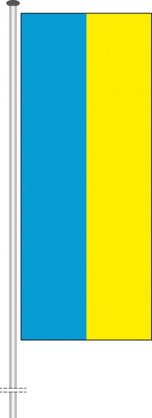 Ukraine als Hochformatfahne