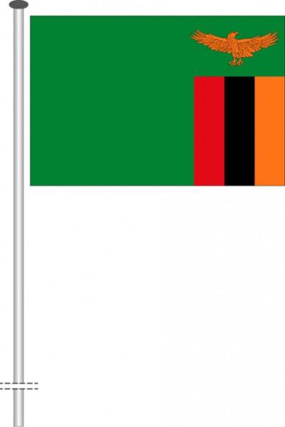 Sambia als Querformatfahne