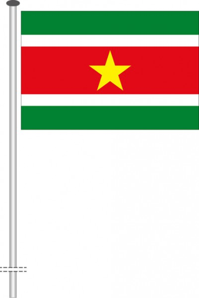 Suriname als Querformatfahne