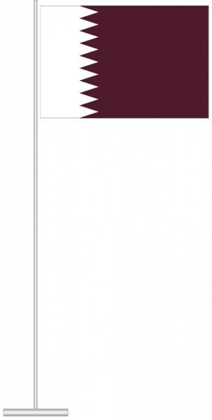 Katar als Tischfahne