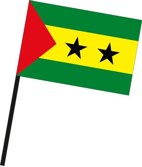 Sao Tome und Principe als Stockfahne