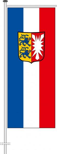 Schleswig-Holstein - Dienstflagge als Auslegerfahne