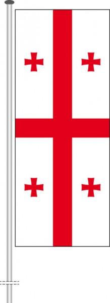 Georgien als Hochformatfahne