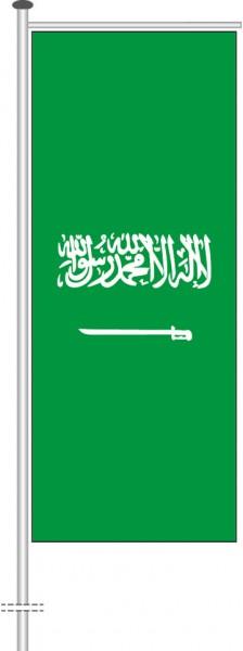 Saudi-Arabien als Auslegerfahne