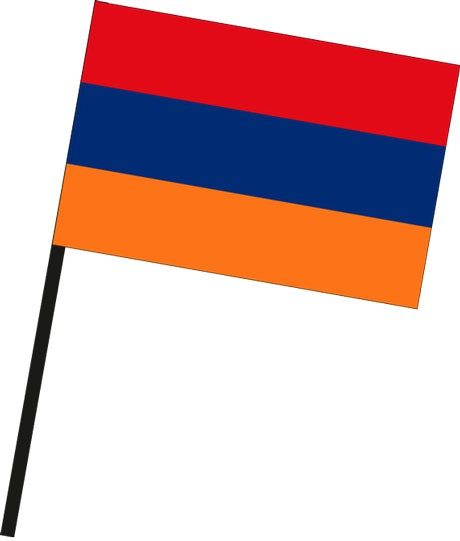 Armenien als Stockfahne