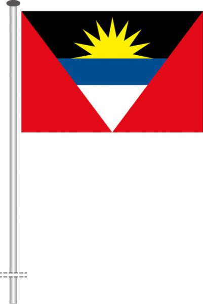 Antigua und Barbuda als Querformatfahne