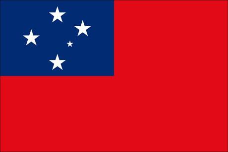 Samoa als Fanfahne