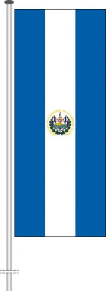 El Salvador als Hochformatfahne